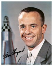 Click Here To Go To The Alan Shepard Pre-Printed Signature Photo Gallery