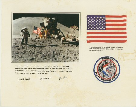 Apollo 15 Letter & Lithograph  £6.95