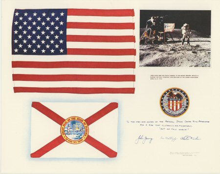 Apollo 16 Letter & Lithograph  £24.95