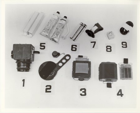 10 x 8 Black & White Glossy NASA Photograph   MA-8 Walters Camera Ditty Bag Contents   �4.95