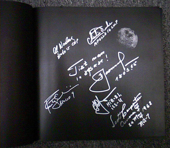 The Page That Is Signed By 4 NASA Astros & 2 Russian Cosmos